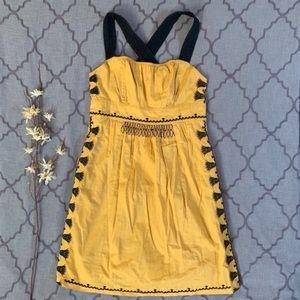 Boho Chic Sweet Embroidered California Iris Dress